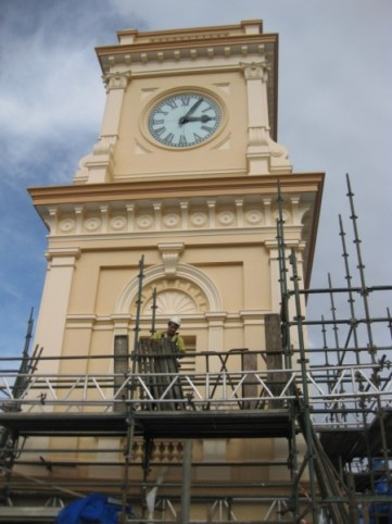 Tower scaffold during 2012 renovation