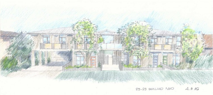 Willoughby Townhouses Street Sketch