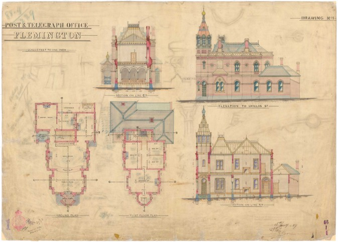 Flemington PO original drawings